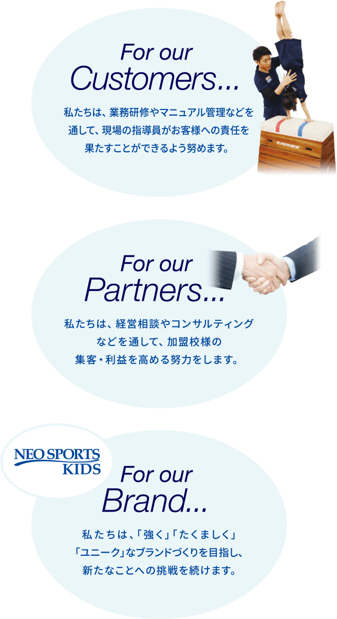 For our Customers... For our Partners... For our Brand...